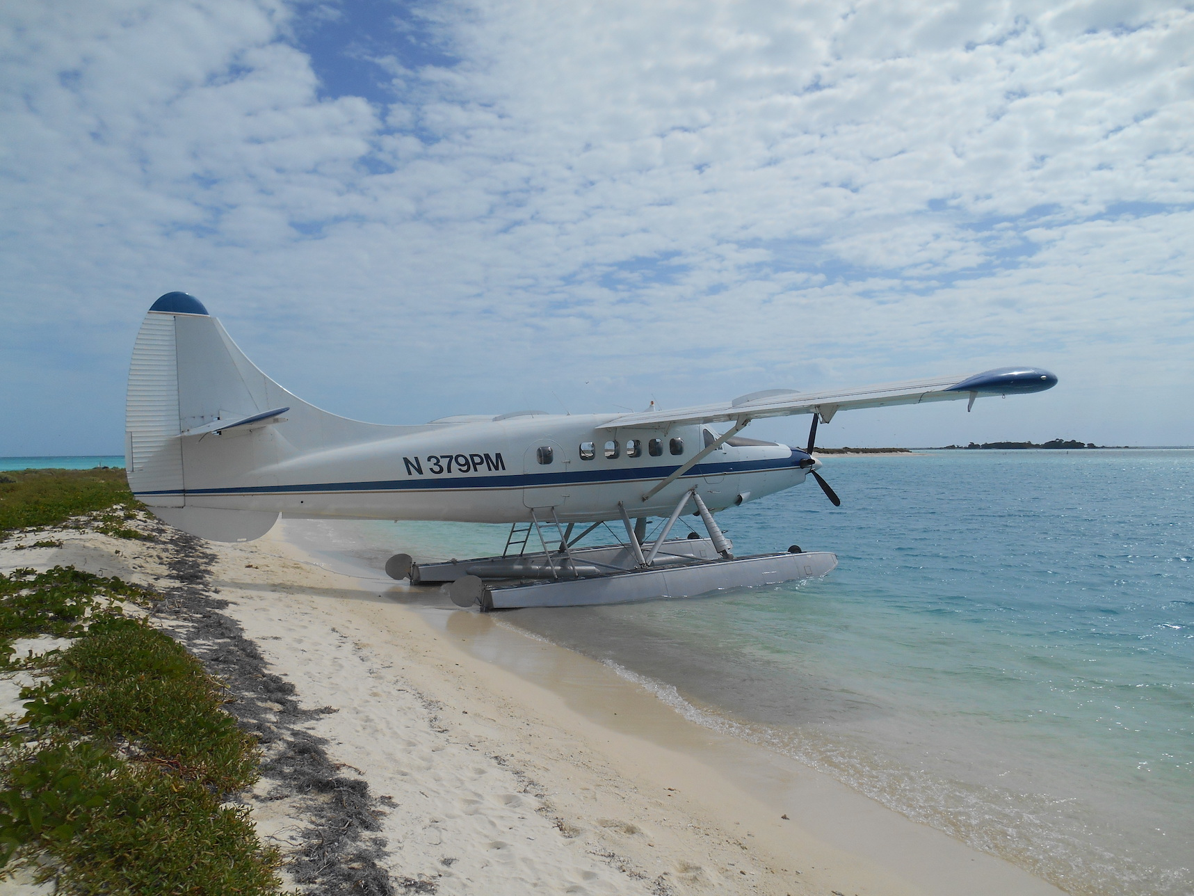 Seaplane at Garden Key, Dry Tortugas National Park